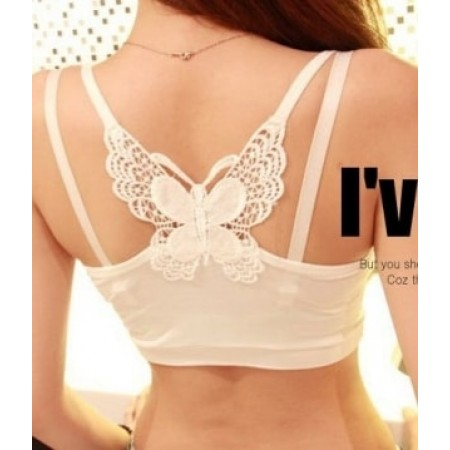 CAMISOLE BUTTERFLY LG110 WHITE