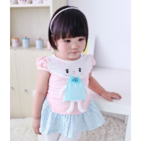CUTE CARTOON DRESS IMPORT KD22 PINK