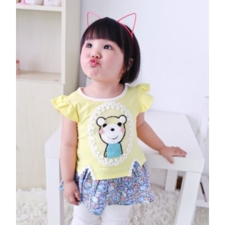 DRESS ANAK ANAK IMUT KD40 YELLOW