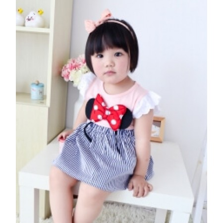 DRESS ANAK-ANAK IMPORT KD46 PINK