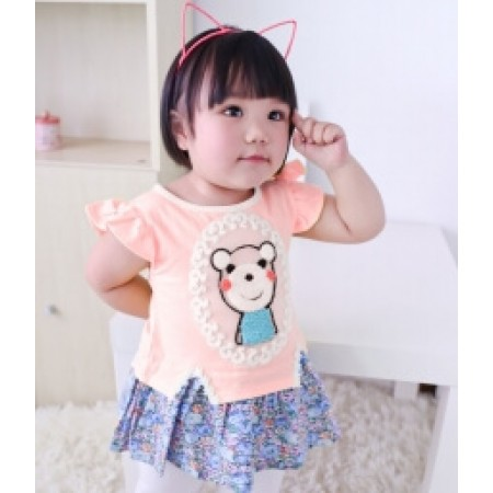 DRESS ANAK-ANAK IMUT KD41 PINK