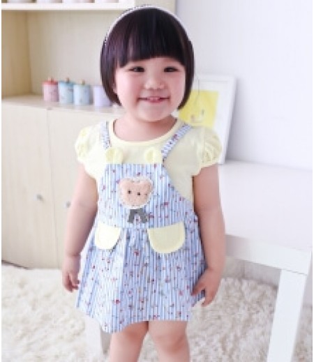 DRESS LUCU ANAK-ANAK IMPORT KD39 YELLOW