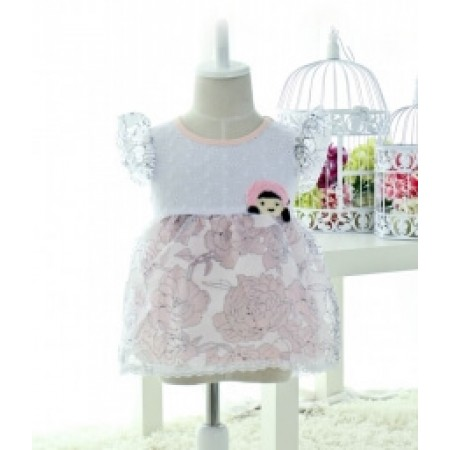 GAUZE KIDS DRESS IMPORT KD27 PINK