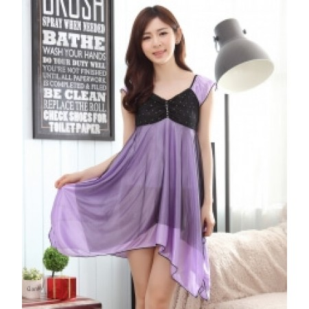 ICE SILK LINGERIE IMPORT LG244 PURPLE