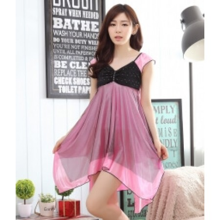 ICE SILK LINGERIE KOREA IMPORT LG243 PINK
