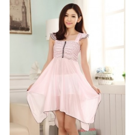 SILK LINGERIE KOREA IMPORT LG249 LIGHT PINK