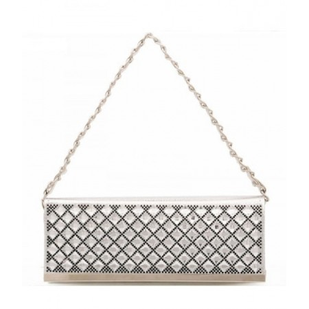 Crystal Party Bag Import BG701 Silver