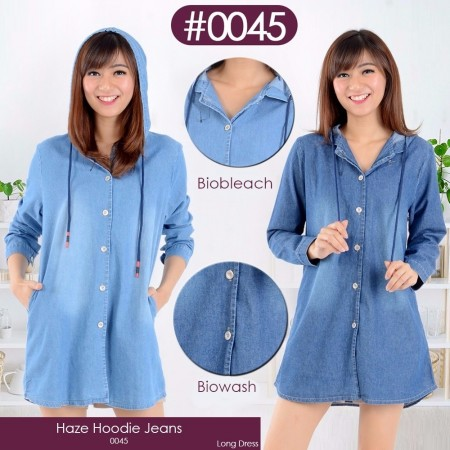 BT Haze hoodie jeans long dress 045