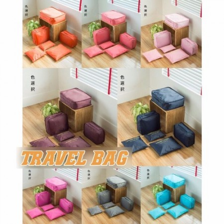Travel Bag Set 6in1 BiruMuda