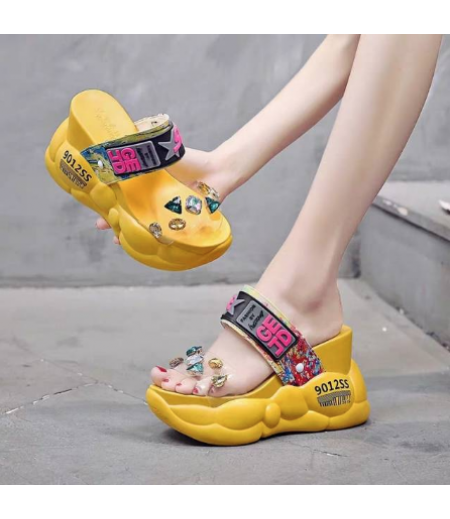 WEDGES WANITA FASHION KOREA FS 255