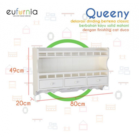 Hiasan Gantungan Dinding Wall Decor Queeny/Dove