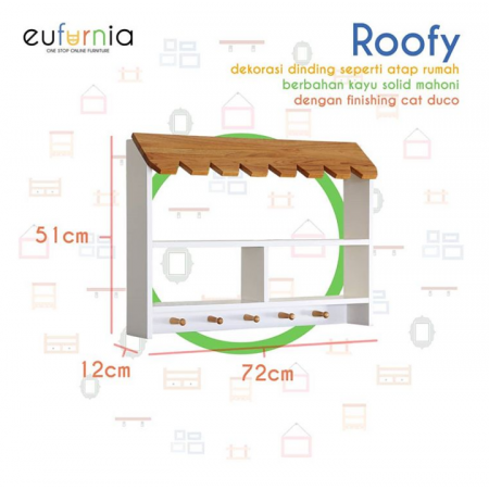 Dekorasi Gantungan Dinding Wall Decor Roofy/Dove