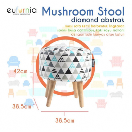 Mushroom Stool Procella (DIAMOND ABSTRAK)