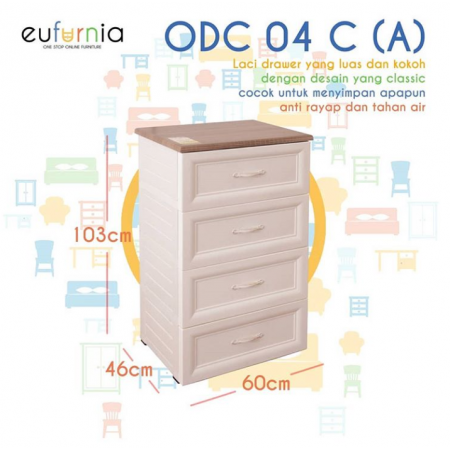 Olymplast Drawer Cabinet Classic ODC 04-C (A 4 Laci)