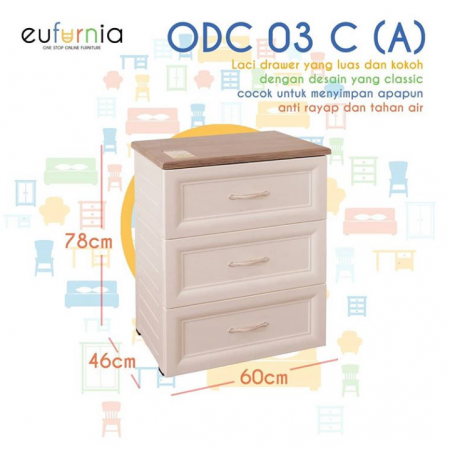 Olymplast Drawer Cabinet Classic ODC 03-C (A 3 Laci)