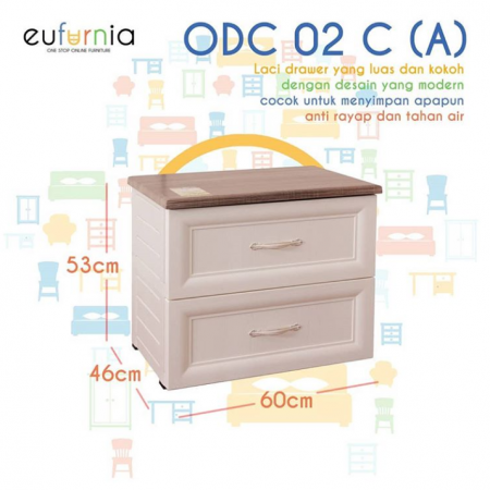 Olymplast Drawer Cabinet Classic ODC 02-C (A 2 Laci)