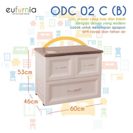 Olymplast Drawer Cabinet Classic ODC 02-C (B 3 Laci)