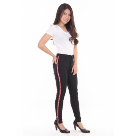 Highwaist Catton Lis Hitam