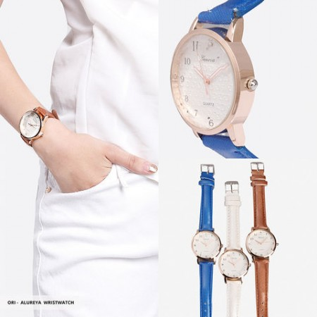 Alureya Analog Round Wristwatch