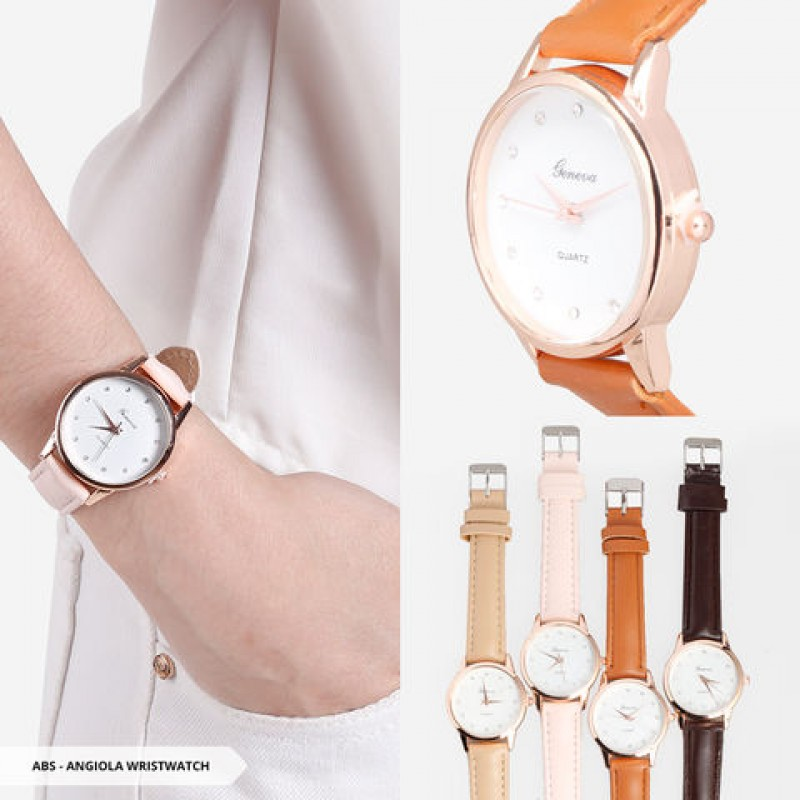 Angiola Plain Round Wristwatch