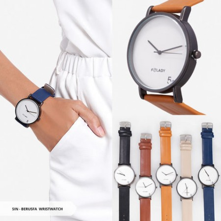 Berusfa Plain Round Wristwatch