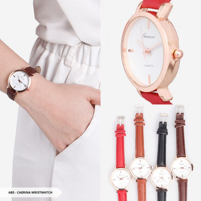Caerina Plain Round Wristwatch
