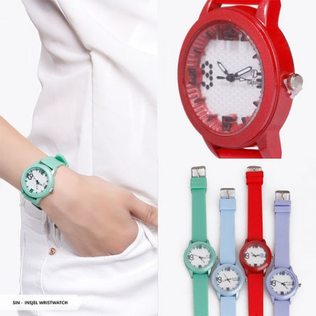 Insjel Plain Round Wristwatch