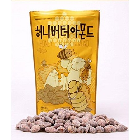 Tom's Honey Butter Almond Korea Cemilan [250 g]