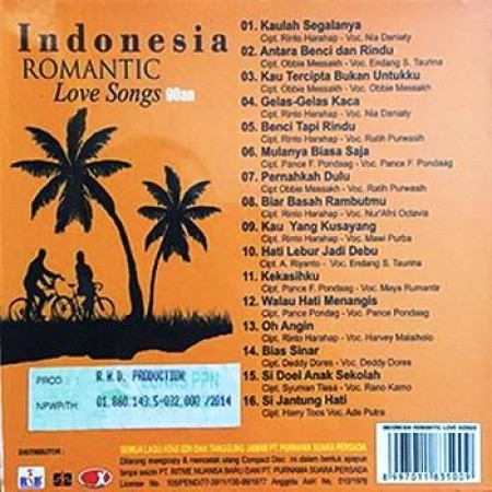 Indonesia Romantic Love Songs 90an Licensed Indonesia