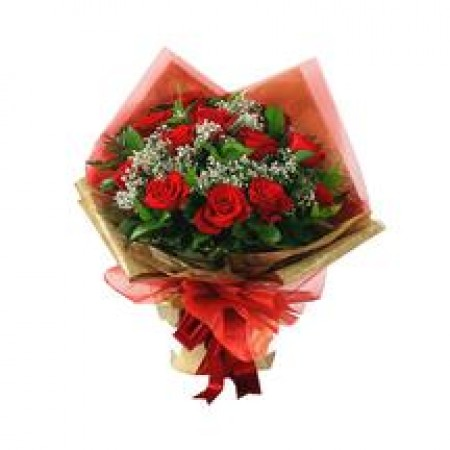 Dozen Red Rose Of Love - Hand Bouquet