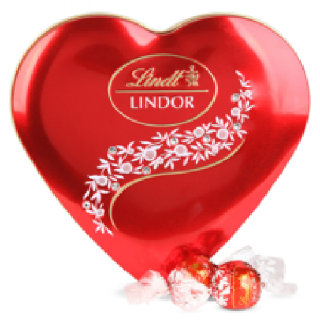 Lindt Crystal Heart Tin Red - 96 gr
