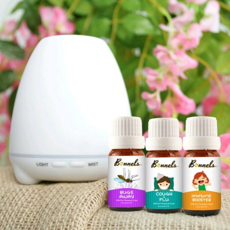 Bonnels Paket Diffuser 100ml + 3 Essential Oil