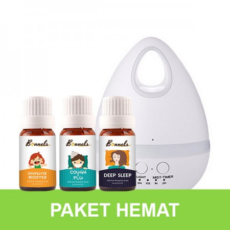 Bonnels Paket Diffuser 200ml + 2 Essential Oil
