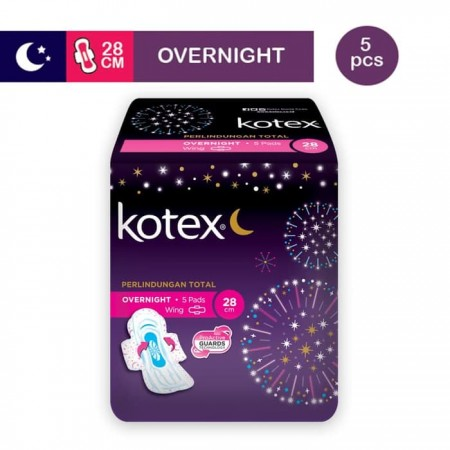 Kotex Over Night 28cm Isi 5 pads