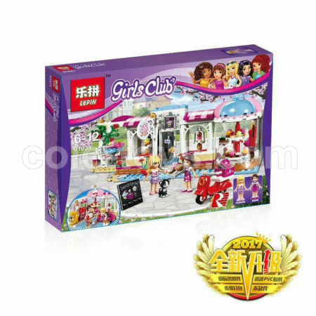 Brick Lepin 01031 Friends Heartlake Cupcake Cafe 491pcs
