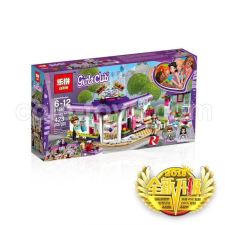 Brick Lepin 01060 Friends Emma's Art Cafe 423pcs
