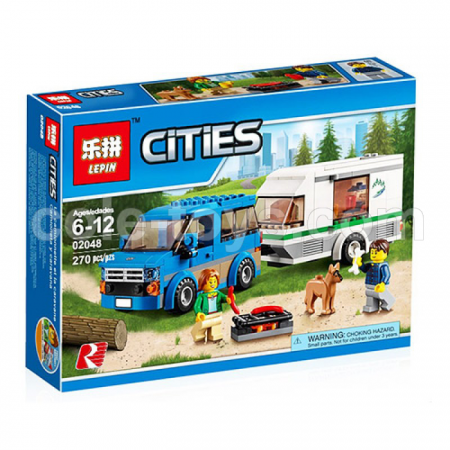 Brick Lepin 02048 City Series Van Caravan Camping 270pcs