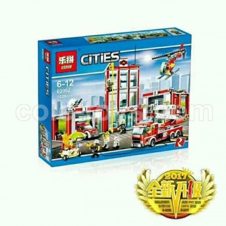 Brick Lepin 02052 City Series Fire Station 1029pcs