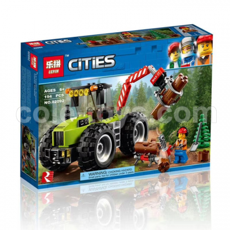 Brick Lepin 02092 City Series Forest Tractor 194pcs