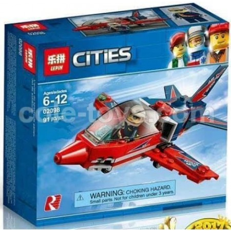 Brick Lepin 02098 City Series Airshow Jet 91pcs