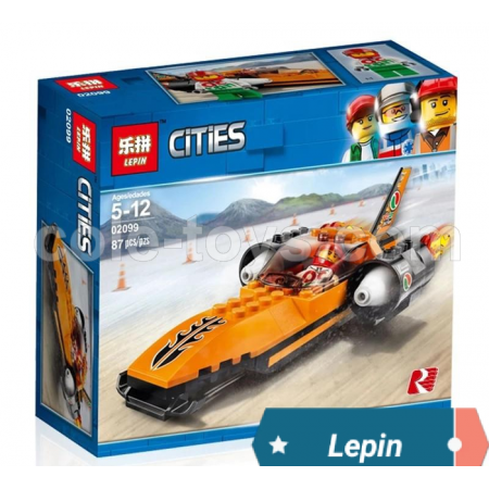 Brick Lepin 02099 City Series Speed Record Car 87pcs