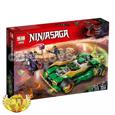 Brick Lepin 06076 NinjaGo Movie Ninja Nightcrawler 618pcs