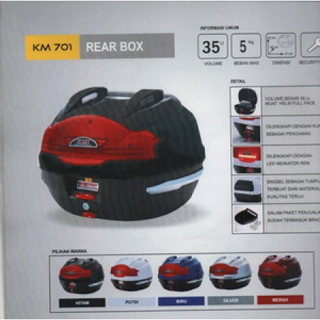 Box Motor KMI 701 Warna Hitam