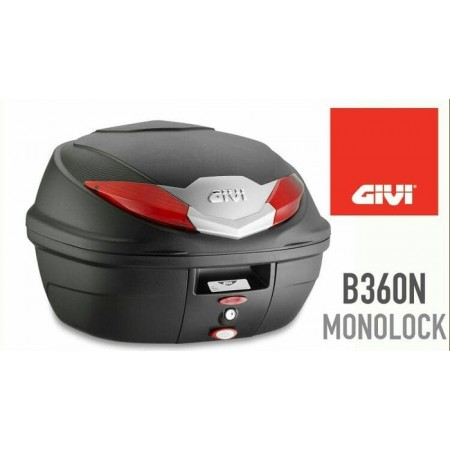 GIVI B360N BOX MOTOR RED MIKA JUMBO 1 HELM JACKET
