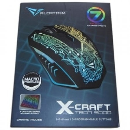 Alcatroz X-Craft Tron 5000 PRO Gaming Mouse Free Mousepad