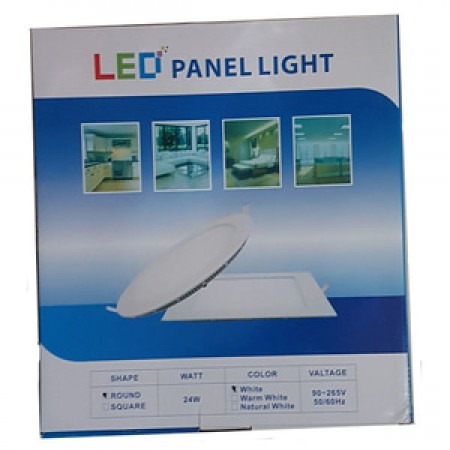 Yopel Lampu LED Panel Bulat Putih 24 Watt