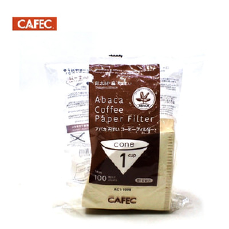 CAFEC Abaca Cone Coffee Brown Paper Filter AC1-100B