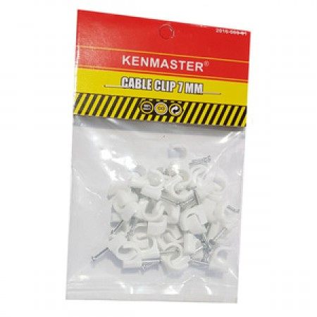 Kenmaster Cable Clip 7mm isi 35 pcs - Klem Kabel