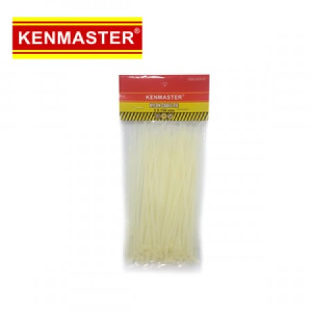 Kenmaster Cable Ties 3X150mm 100Pcs White