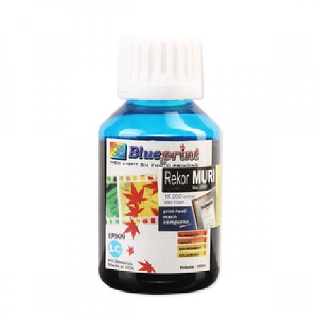 Blueprint Bulk Ink Photo 100 ml Epson - Light Cyan Biru Muda
